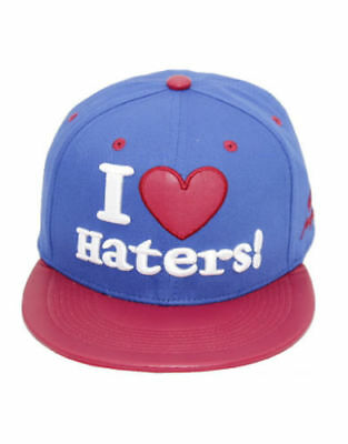 Baseball State Property I Heart Haters Snapback Flat Peak Hat Final Clearance