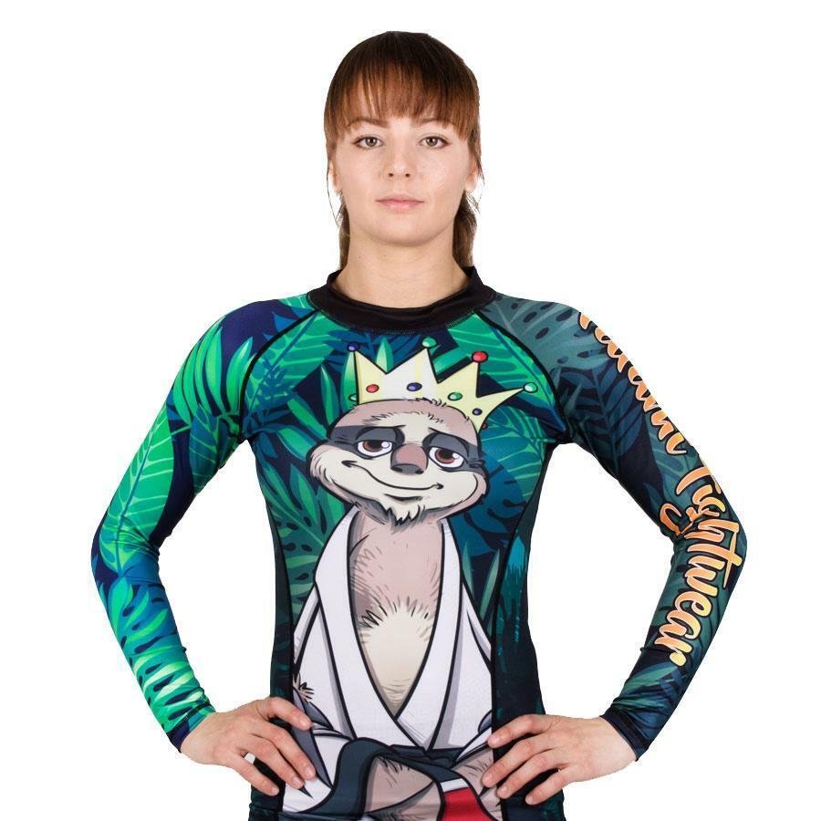 Tatami King Sloth Ladies BJJ Rash Guard Womens Jiu Jitsu Compression Top Gym