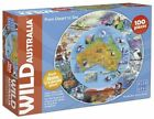 Blue Opal Wild Australia From Desert to Sea Round Map Puzzle 100pc