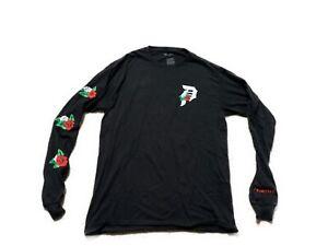 Mens Long Sleeve Primitive Rose T Shirt Black Size Medium Graphic Rose Logo | eBay