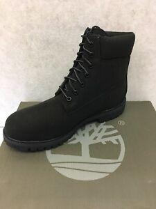 Timberland 6 Inch Premium Thread Canvas Men's Boots Black TB0A1OYN