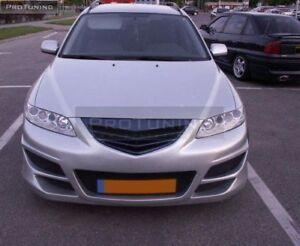 Para-Mazda-6-GG1-prefacelift-Frontal-Negro-debadged-Grill-sin-logotipo