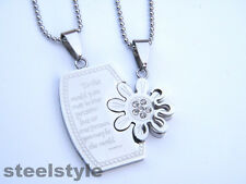 WOMENS MENS STAINLESS STEEL 316L COUPLE  PENDANT NECKLACE 01