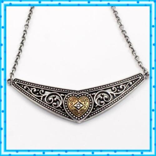 Brighton Theodora Heart Two Tone Vintage Necklace