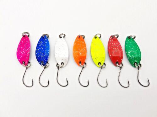 7x Forellenblinker Japan Blinker Trout Spoon Forelle J8