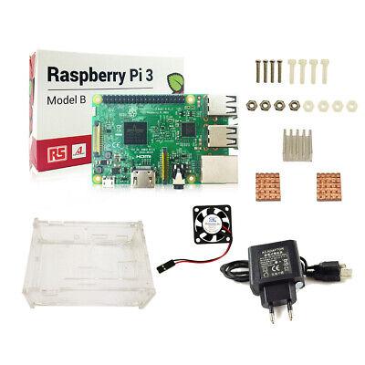 starter kit official case box power supply heatsinks for raspberry pi 3b 3 b D