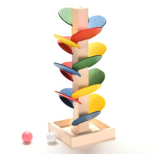 Wooden-Tree-Marble-Ball-Run-Track-Game-Children-Educational-Toy-HOT