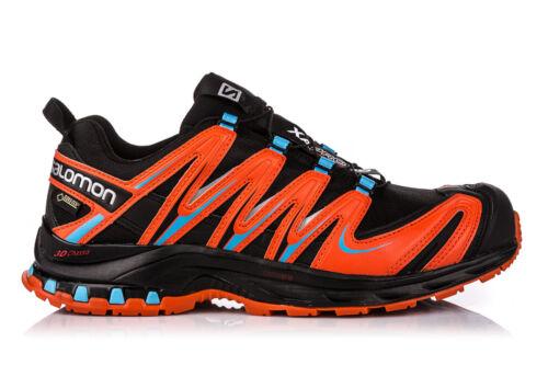 Scarpe Trail Running SALOMON XA PRO 3D GTX® black tomato red UK 7.5 EU 41 1//3