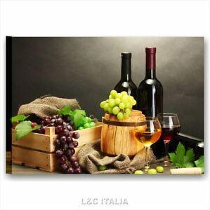 Vino e uva 2 quadro 70x50 quadri moderni tela arredamento pub ristorante cucina ebay - Quadri moderni cucina ...