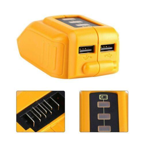 USB Phone Chargers Adapter Li-ion Battery Power Bank 12V//20V For Dewalt