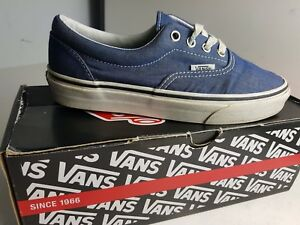 879d02f18d26f8 VANS TB9C BOYS WOMENS GIRLS SIZE UK 3 EU 36 BLUE WHITE TRAINERS ...