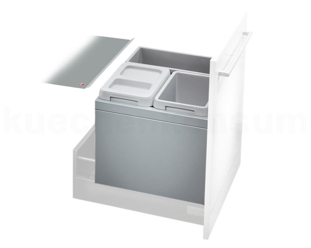Hailo residuos coleccionista 3631-53 XL cubo basura 3 instalación veces instalación 3 50cm extracto abfallsorter 4bd8fe