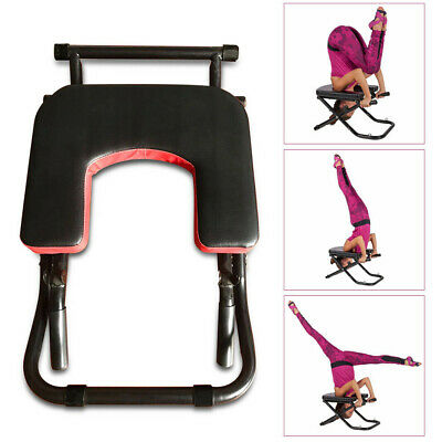 pu leather yoga chair inversion bench handstand exercise