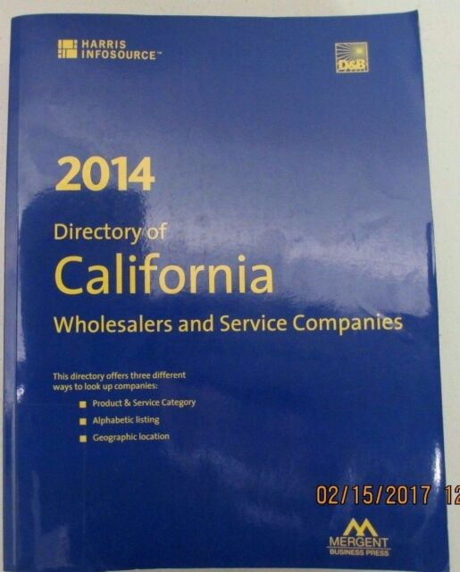 California Manufacturers Register Directory by Harris InfoSource - 2014