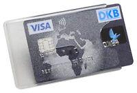 3 - 25x Kartenhüllen Matt Stabil Magnetkarten Schutzhülle Ausweis Schlüsselkarte