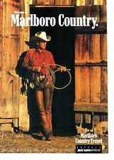 PUBLICITE ADVERTISING 017  1990   Marlboro Country Travel  voyages  Jet'america