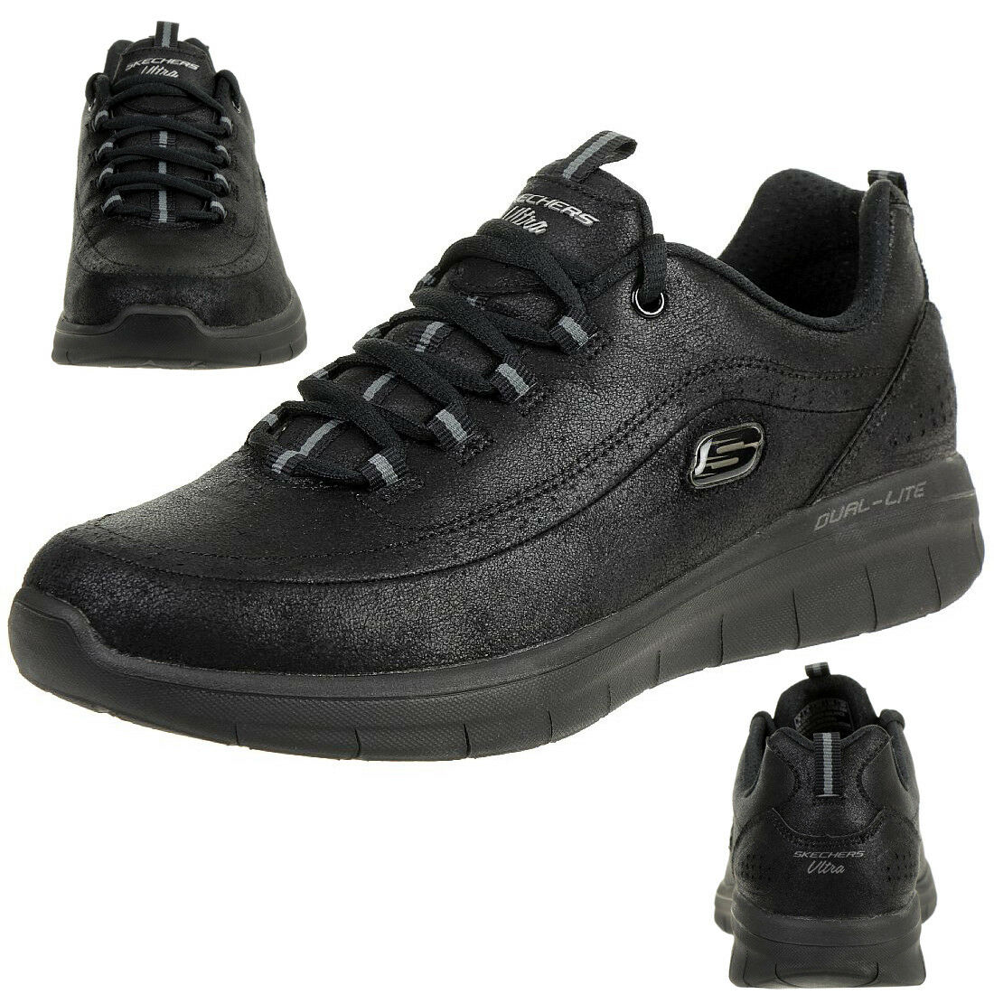 Skechers Synergie 2.0 Comfy Up Chaussures Fitness Dame Mousse à Mémoire BBK