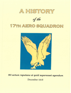 Details about World War I US Army 17th Aviation Combat Squadron History  Book & Roster Roll