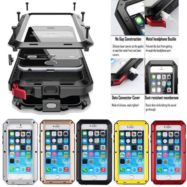 new concept ba534 b20e0 360°Heavy Duty Shockproof Full Body Protective Glass Case Cover For iPhone  X 8 7