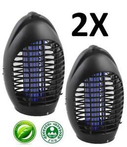 2 X électrique Uv Insect Killer Uv Moustique Mouche Nuisible Zapper 23302-afficher Le Titre D'origine