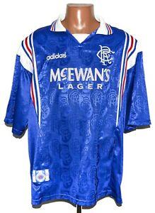 RANGERS SCOTLAND 1996/1997 HOME FOOTBALL SHIRT JERSEY ADIDAS SIZE XXL ADULT