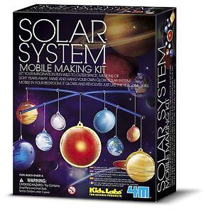 SOLAR SYSTEM MOBILE MAKING KIT EDUCATIONAL KIDZ LABS 4M SCIENCE & ACTIVITY KIT