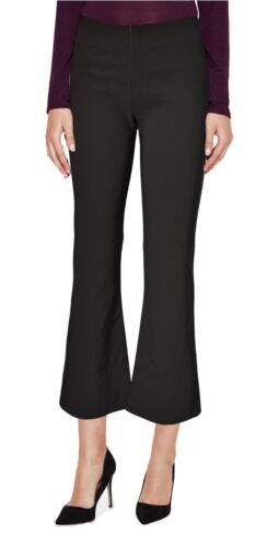 Womens boot cut cropped trousers strech invisible zip office every day boot leg
