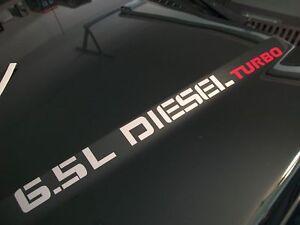 6.5l turbo diesel hood decals chevrolet 92 93 94 95 96 2500 3500 c/k