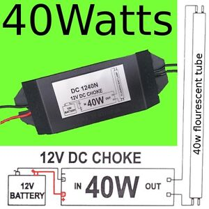 Details about 12v DC Fluorescent Lamp Choke Battery Power Saving Fishing  camping accessories