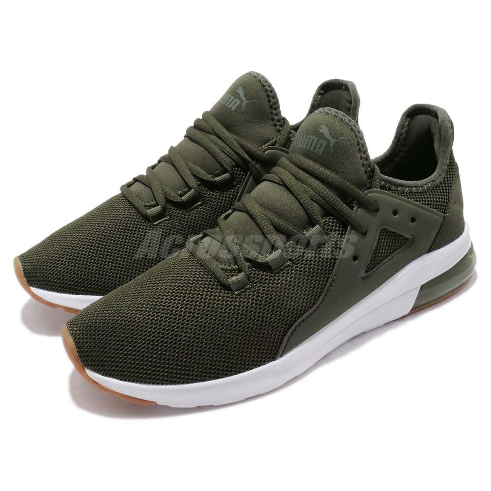 Puma Electron Street Forest Night blanc homme Casual chaussures Sneakers 367309-03