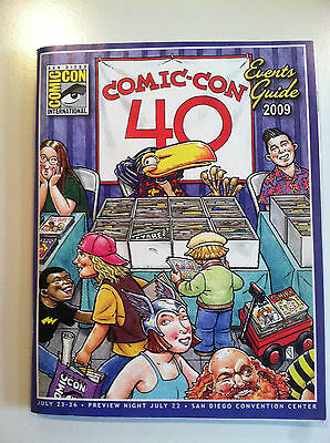 """Collectibles Gentle San Diego Comic Con """"40"""" 2009 Events Guide Reasonable Price"""