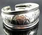 Free shipping Tibetan Tibet Silver Totem Bangle Cuff Bracelet