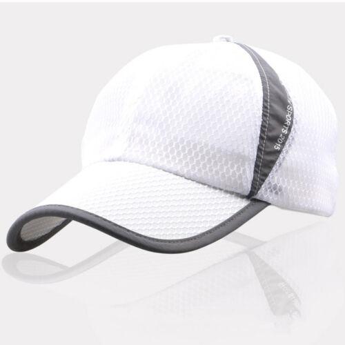 CLASSIC PLAIN NETTED FITTED MESH TRUCKER BASEBALL HAT FLAT PEAK HAT