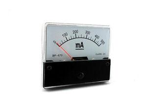 Amperemeter  DC Einbauinstrument Messinstrument Einbau analog Panel Meter