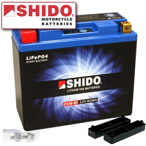 Batterie Yamaha FJR1300 //A ABS RP13 Bj 2006 Shido Lithium LT14B-BS YT14B-BS