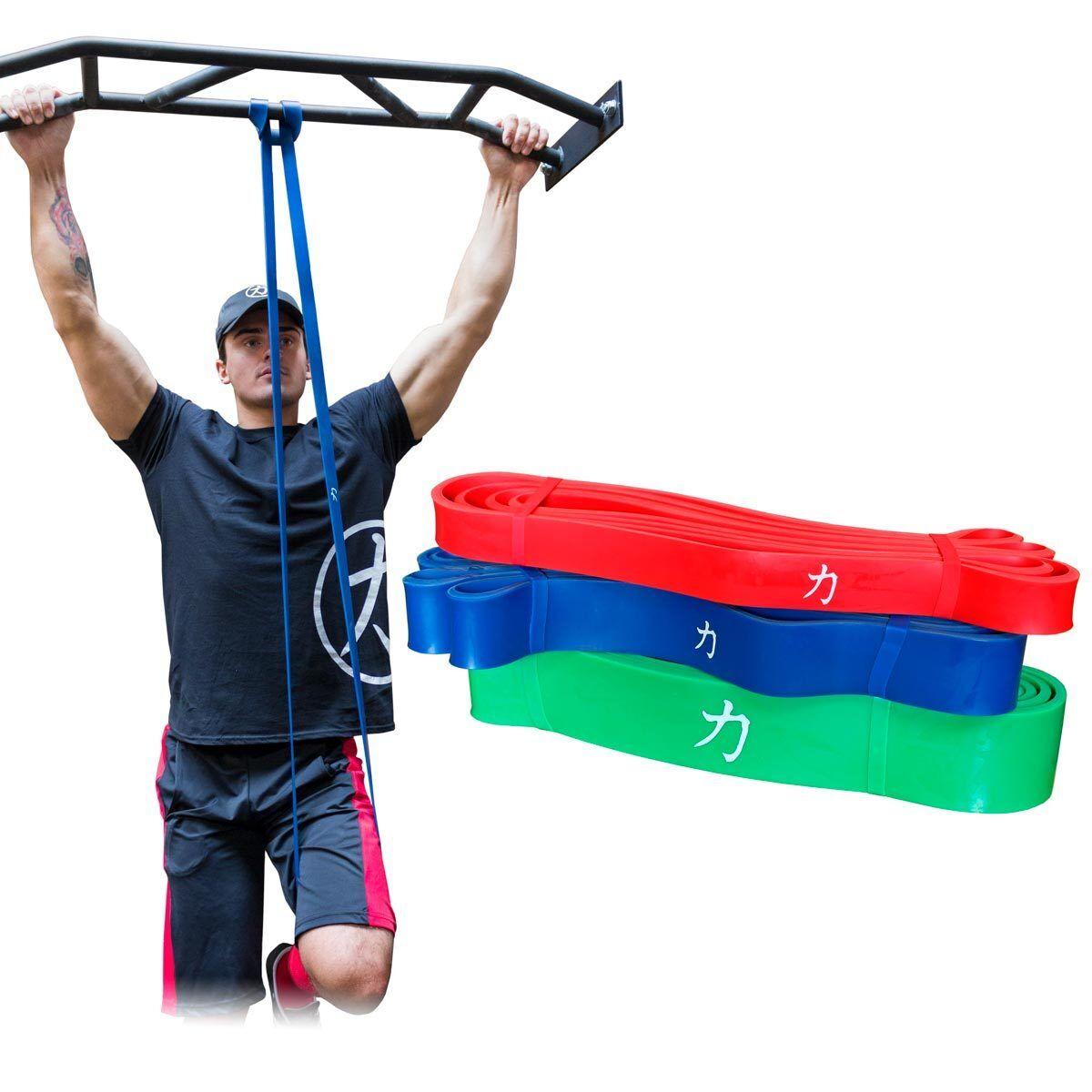 Strengthshop Widerstandsbänder Set Latex 104 cm jeweils 1 x Nr. 2 - 3 - 4