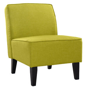Accent Chair Armless Contemporary Dining Chair Living Room Furniture Green Ne
