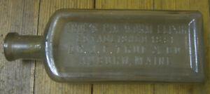 Antique True's Pin Worm Elixir, Est. 1851, Dr. True & Co., Auburn, Maine