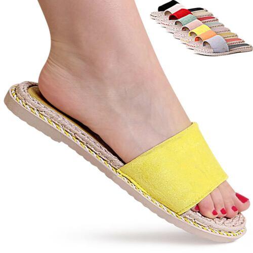 Damen Plateau Sandalen Sandaletten Pantoletten Slipper Hausschuhe