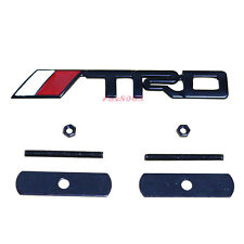3D Metal Black TRD Front Grill Badge Emblem Decal Sticker For Toyota Camry