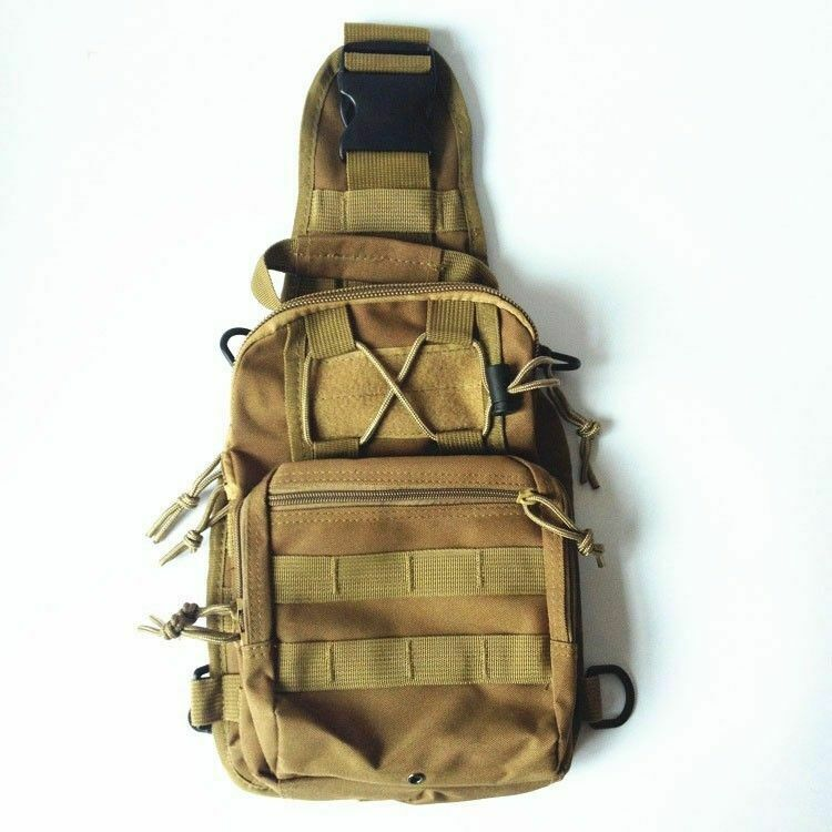 Mens Sports Camouflage Travel Shoulder Bag Tactical Crossbody Army Sling