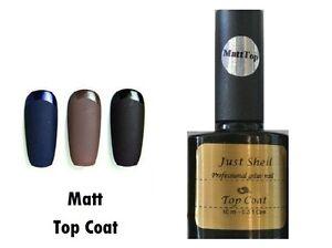 Matte-Mat-Top-Coat-Just-Shell-UV-LED-nail-gel-polish-soak-off-nail-hybrid