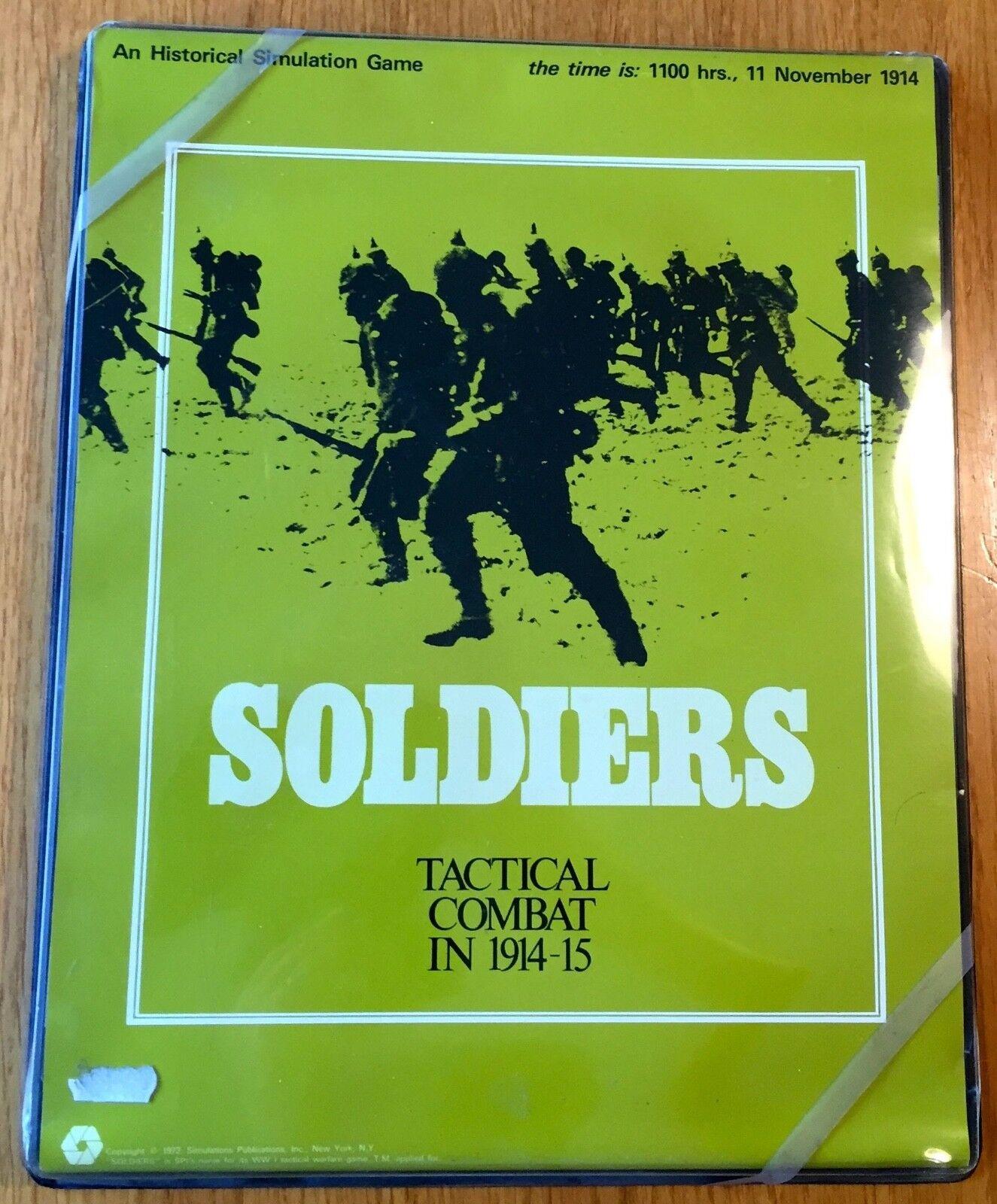qualità garantita SOLDIERS - SPI 1972 1972 1972 - come nuovo UNPUNCHED  wholesape economico