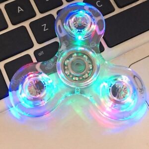 Transparent-Crystal-Led-Light-Fidget-Finger-Spinner-Rainbow-Hand-Stress-EDC-Toy