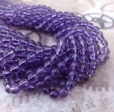6mm Amethyst Gemstone Beads Strand of 68