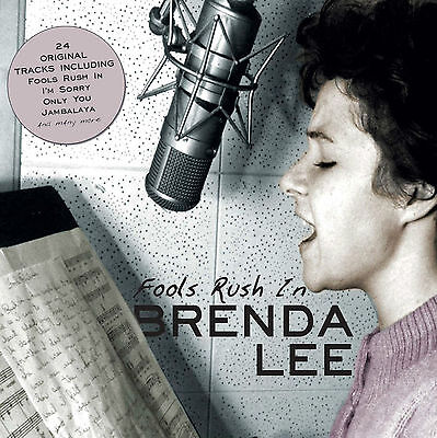 BRENDA LEE ~ FOOLS RUSH IN  NEW SEALED CD 24 ORIGINALS , HITS, ROCKABILLY, ETC