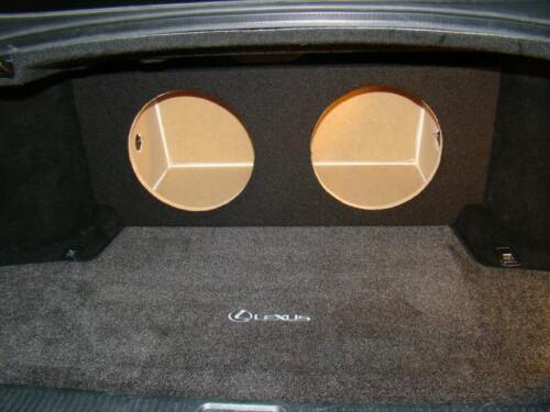 "Sub Speaker Enclosure by ZEnclosures Lexus GS350 GS 350  2-10/"" Subwoofer Box"