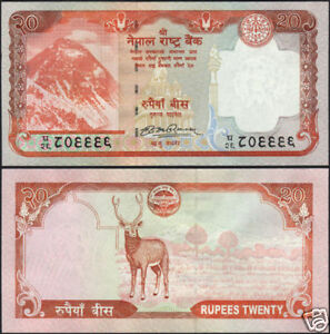 sign-16 UNC NEPAL 2009 EVEREST Rs.1000 BANKNOTE w//out  FLOWER PRINTED P-68