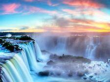 NATURE LANDSCAPE WATERFALL IGUAZU BRAZIL BEAUTIFUL POSTER ART PRINT BB1520A