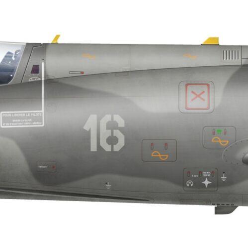 Escadrille 59.S par G. Marie 1993 BAN Hyères Print Super Etendard